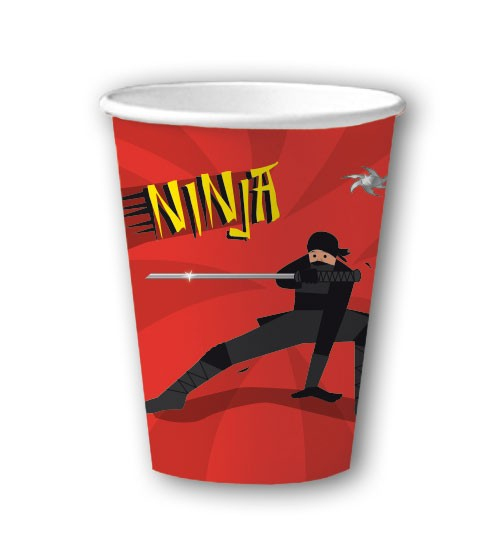 8 Ninja Party Becher 200ml