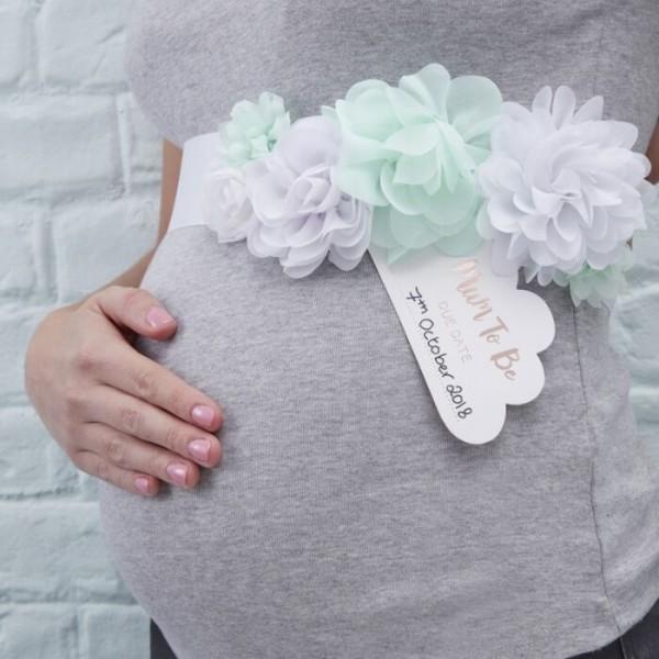 Hallo Welt Blumenschärpe Mummy