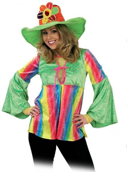 Camisa de mujer hippie colorida