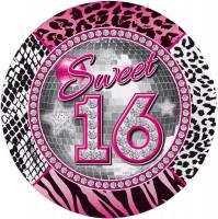 8 Blingbling Sweet 16 Teller 23cm