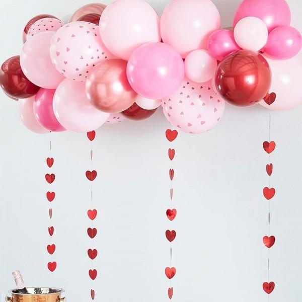 Ghirlanda di palloncini San Valentino