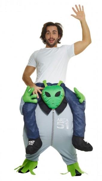 Area 51 piggyback costume for men