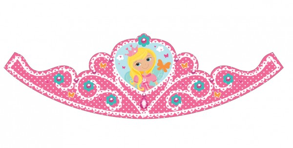 Adorable Princess Dafne Party Crown 8 pièces