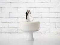 Verliebtes Brautpaar Tortendeko 11cm