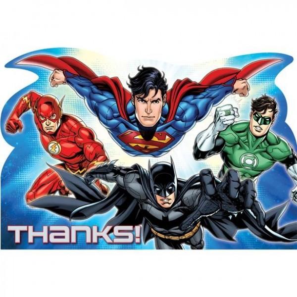 6 Superhelden Danksagungskarten