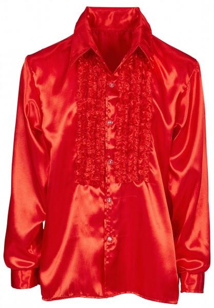 Chemise rouge à volants Joscha