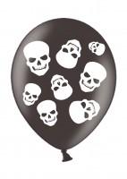 6 Totenkopf Dämonen Luftballons 28cm
