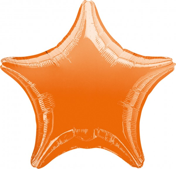 Sparkling Star Ballon orange
