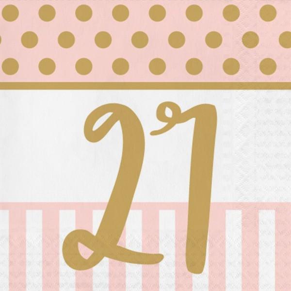 16 Lovely 21st Birthday Servietten 33cm