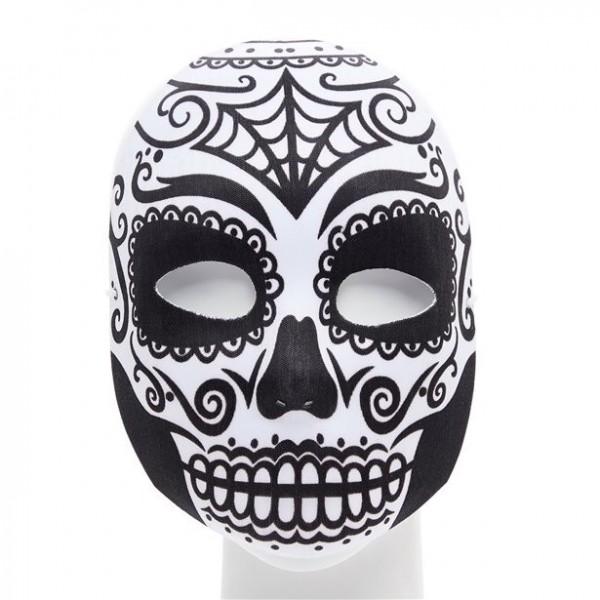 Day of the Dead Mask sort og hvid
