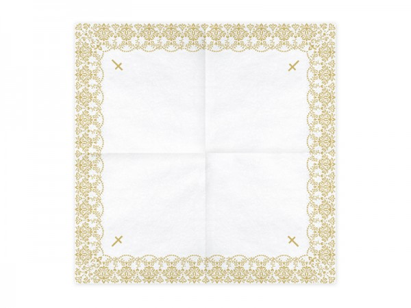 20 serviettes Holy Blessings or 33cm