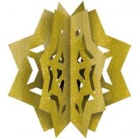 3D Glitzer Stern Dekoration