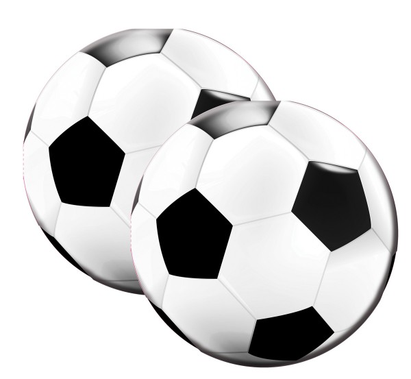 20 runde Fußball Servietten