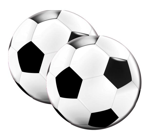 20 ronde voetbalservetten