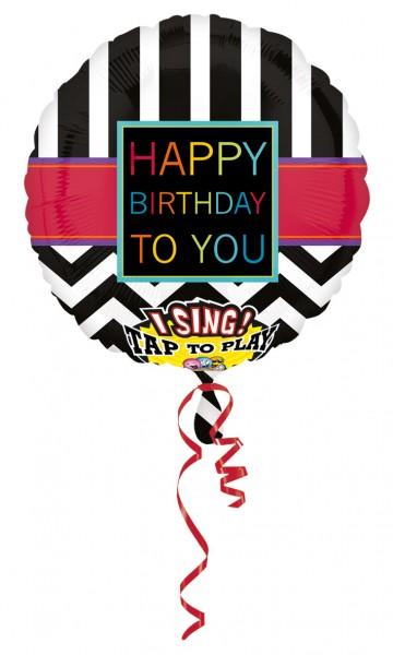 Black & White birthday balloon with sound