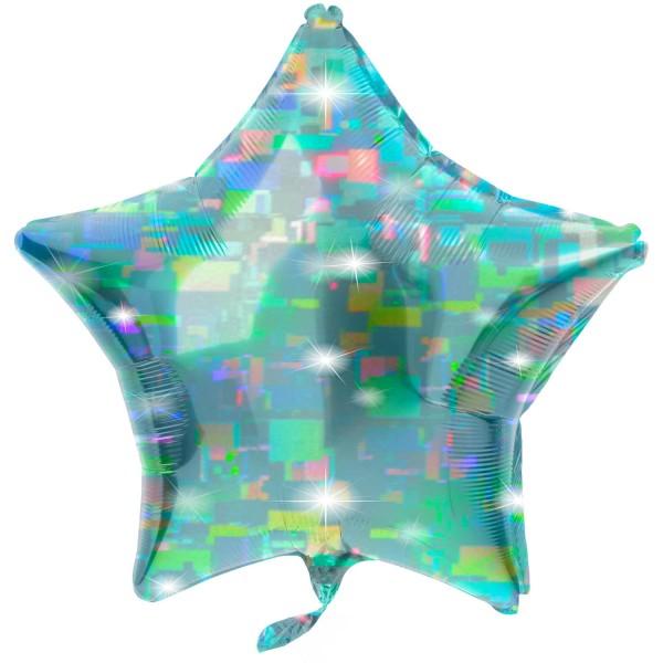 Stern Folienballon aqua 61cm