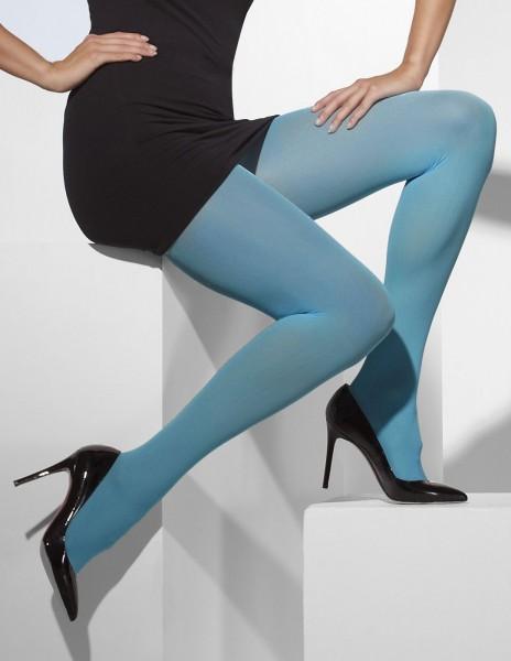 Collant opaque bleu