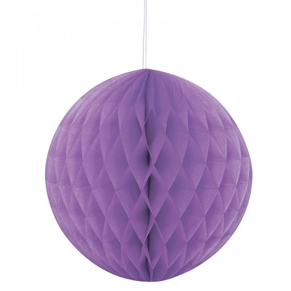 Decorative honeycomb ball purple 20cm