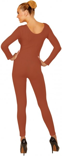 Body à manches longues pour femme, marron