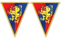 Ritter Wappen Wimpelkette 3,7m
