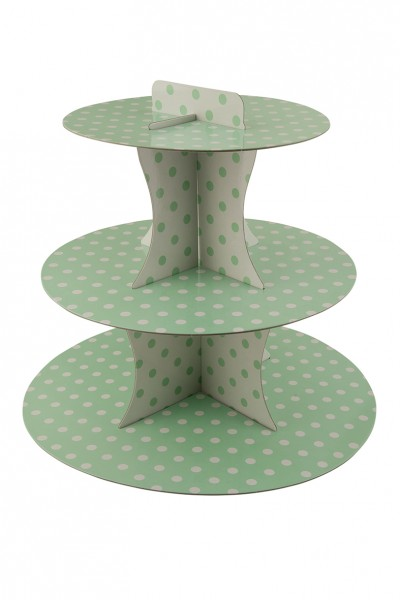Punkte Spaß Grüner Cupcake Ständer 30cm