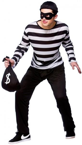Bankräuber Dieb Kostüm