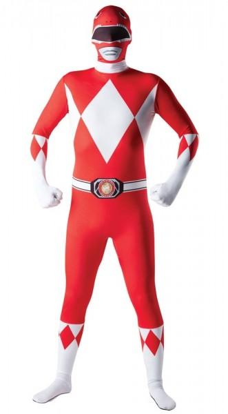Morphsuit rojo Power Ranger para hombre