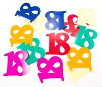 12 Streudekozahlen XL 18 Geburtstag