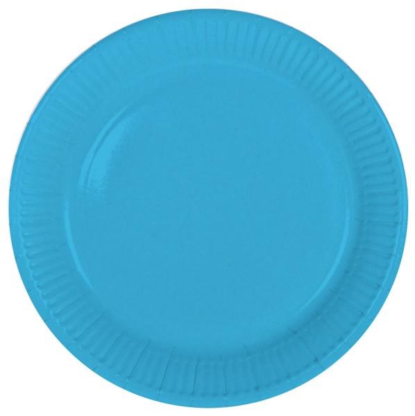 8 piatti di carta celeste 23 cm