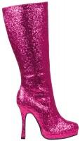 Glitzer Glamour Stiefel Pink