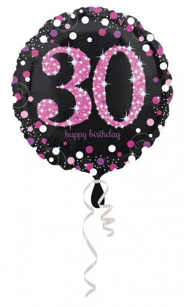 Pink 30th Birthday Folienballon 43cm