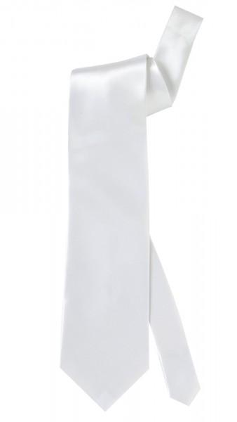 Weiße Satin Krawatte