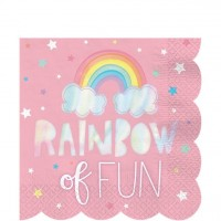 16 Fairy Rainbow Servietten 33cm