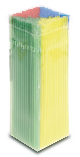 100 colorful summer straws 24cm