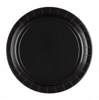 8 Pappteller Partytime schwarz 22,8cm