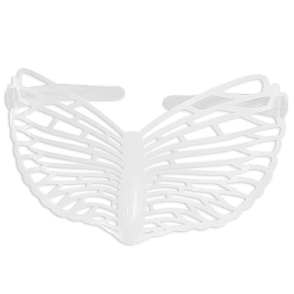 Partybrille Schmetterling Weiß