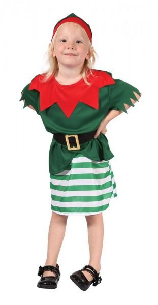 Kleine Weihnachtselfe Kinderkostüm