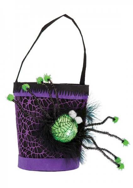 Trick or Treat spiders bucket LED