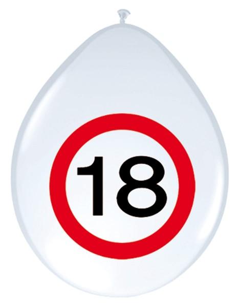 8 panneaux de signalisation 18 ballons 30cm