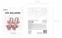 # Zeichen Folienballon roségold 35cm