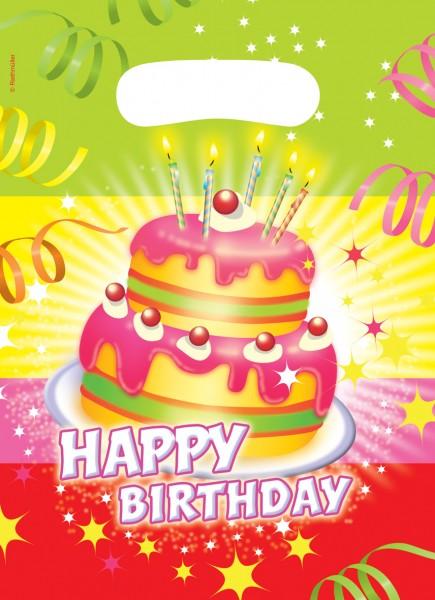 6 Birthday Cake Geschenktüten