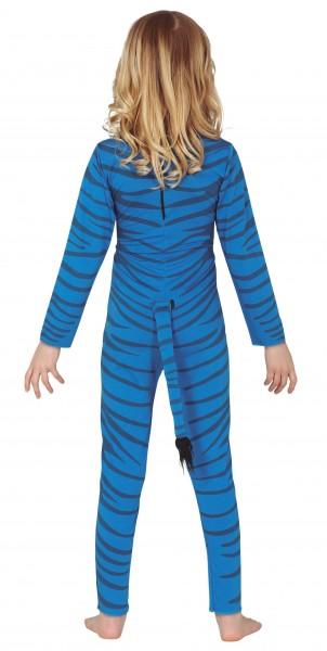 Blaues Tiger Kostüm für Kinder