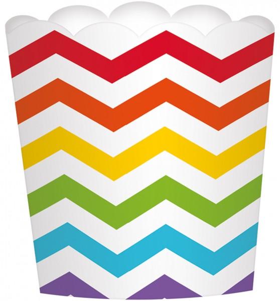 24 colored zig zag dessert cups