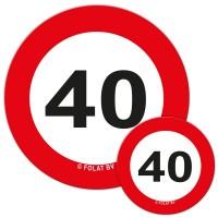 Verkehrsschild 40 Streudeko