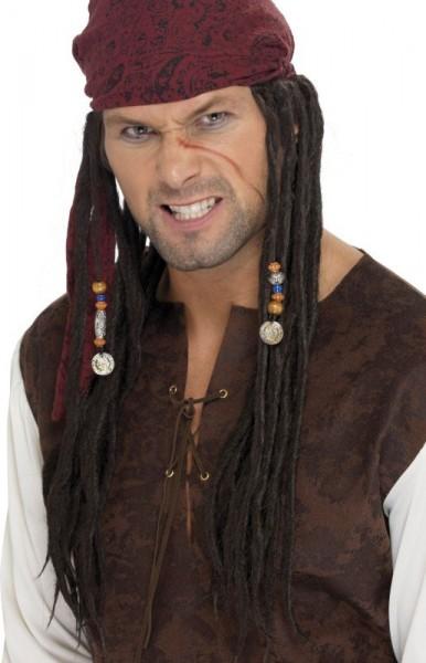 Piraten Rasta Perücke Mit Kopftuch