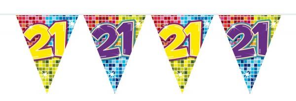 Mini catena pennant per il 21 ° compleanno