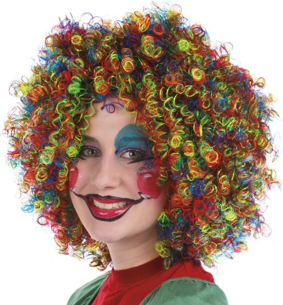 Curly hair wig multicolored