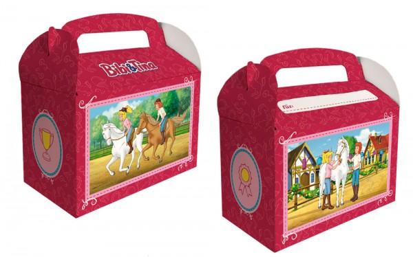 6 Bibi und Tina Geschenkboxen mit Namensfeld