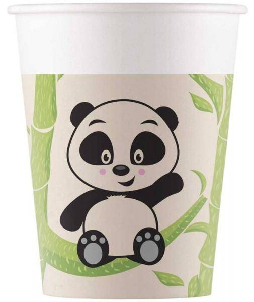 8 vasos de papel Panda Eco 200ml
