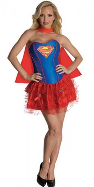 Sexy Superwoman Korsagenkleid Mit Umhang
